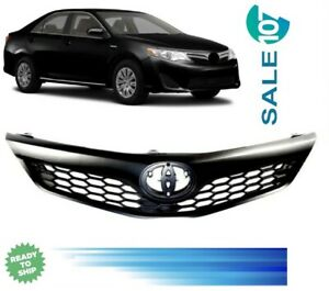 Fits For 2012 2014 Toyota Camry Se Xse Front Bumper Upper Grille Black Grill