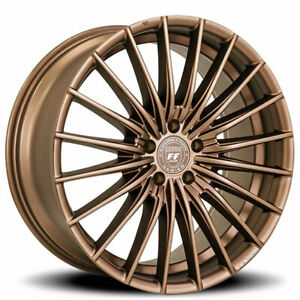 4 22 Staggered Lexani Wheels Ressa Bronze Flow Forged Rims B44