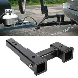 Truck Dual 2 Trailer Hitch Receiver Rise Drop Adapter Extender Tow 4000lb