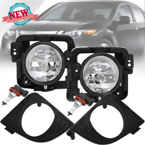 2x For Acura Tsx Clear Fog Lights Bumper Driving Lamps W Lights 2009 2010 New