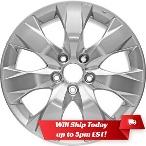 New Set Of 4 17 Silver Alloy Wheels Rims And Centers For 2008 2012 Honda Accord