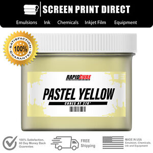 Pastel Yellow Screen Printing Plastisol Ink Low Temp Cure 270f Gallon
