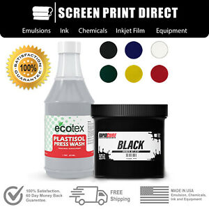 Plastisol Ink Wash Bundle For Screen Printing Low Temp Cure 270f 6 Colors