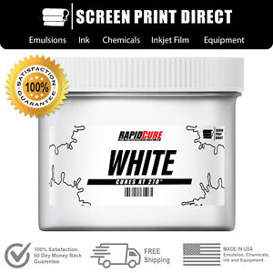 White Screen Printing Plastisol Ink Low Temp Cure 270f All Sizes