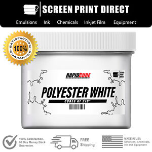 Poly White Screen Printing Plastisol Ink Low Temp Cure 270f All Sizes