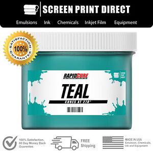 Teal Plastisol Ink For Screen Printing Low Temp Cure 270f 8oz