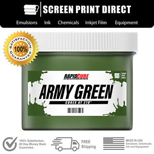 Army Green Plastisol Ink For Screen Printing Low Temp Cure 270f 8oz
