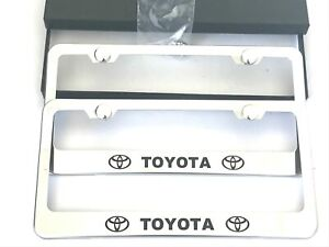 2x Stainless Steel License Plate Frame Rust Free Bolt Caps For Toyota Cover New