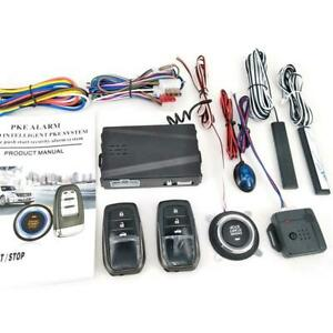 Keyless Entry Car Engine Start Alarm System Kit Push Button Remote Starter Stop