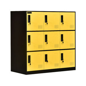 9 Door Locker Office Storage Locker Home And School Storage Locker Metal Locker