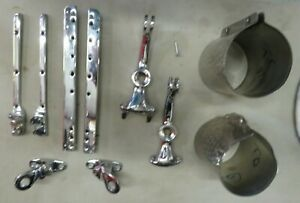 1945 1950 Mg Tc Head Light Fender Braces Windshield Supports Misc Chromed Parts