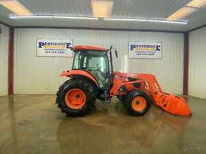 Kubota M6040 Cap 4wd Tractor Loader With A c And Heat