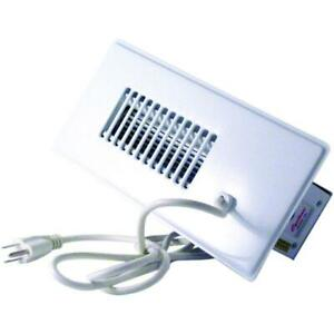 Duct Booster Fan White Register Grille Air Vent Built in Thermostat Auto Sensor