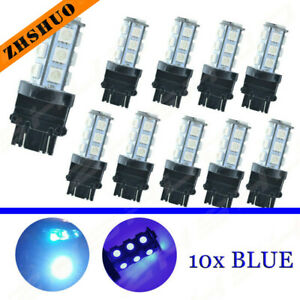 5 Pair 18 Smd Led 3157 Turn Signal Blinker Drl Parking Ice Light Blue Tint Bulbs