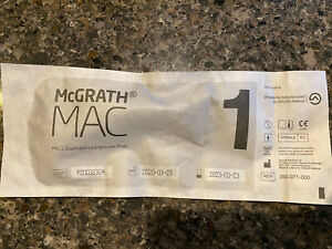 new Mcgrath Mac 1 Disposable Laryngoscope Blade 350 071 000 Exp 032023