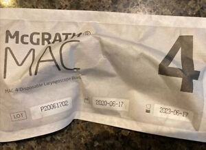new Mcgrath Mac 4 Laryngoscope Blade 350 012 000 Exp 05 2023