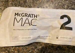 new Mcgrath Mac 2 Disposable Laryngoscope Blade 350 012 000 Exp 05 2023