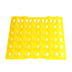 Egg Tray 30 Incubator Chicken Duck Breeders Stackable Hatching Storage Yellow