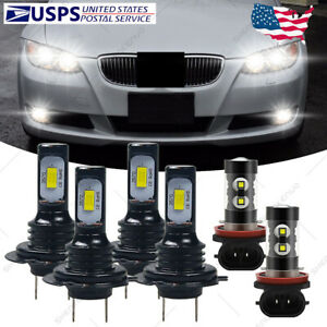 For Bmw 328i 325xi 330xi 2002 2006 Combo Led Headlight Fog Light Bulbs 6000k Hkb