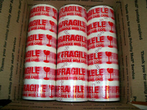 18 Rolls fragile Carton Packing sealing Tape 2 X 55 Yards 165 Ft Ea Roll
