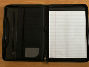 Leed s Durahyde Writing Pad 8 5 X 11 Black 0600 01 Portfolio Notepad