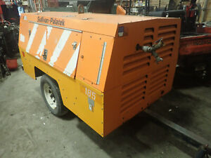 Sullivan D185q11jd 185 Cfm Air Compressor Runs Exc Video Low Hours Trailer