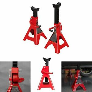 Set Of 2 Steel Racing Jack Stands 2 Ton 4 000 Lb Pair Heavy Duty Car Truck Auto