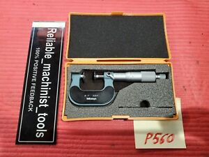 Excellent Mitutoyo 0 1 Inch Ouside Od Disk Micrometer 123 125 001 In P560