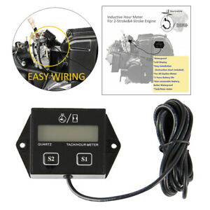Waterproof Tach Hour Meter Small Gas Engines Tachometer Rpm Gauge For Chain Saw