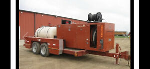 Ditch Witch Jt910 With Power Pac 50 On Trailer