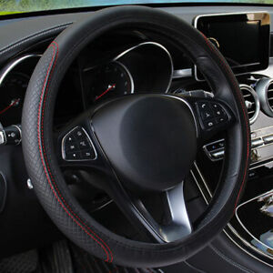 15 Pu Leather Car Steering Wheel Cover Protector Accessories For Honda Civic
