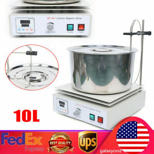 Magnetic Stirrer With Heating Plate Hotplate Digital Mixer Stir Bar Lab barrel