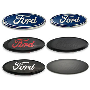 7 9 Inch Front Grille Tailgate Oval Emblem For 2005 2014 Ford F150
