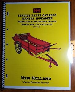 New Holland 200 202 Ground Driven 220 221 222 Pto Manure Spreader Parts Manual