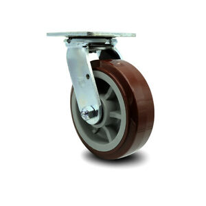 6 Inch Polyurethane Wheel Swivel Caster With Ball Bearing Service Caster Brand