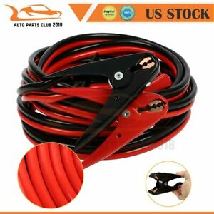 Emergency Power Battery Jumper 20ft 2gauge Booster Jumper Cables Red And Black