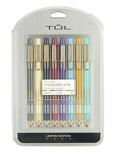 Tul Limited Edition Metallic Retractable Gel Pens Medium Point 0 8 Mm 8 Pack