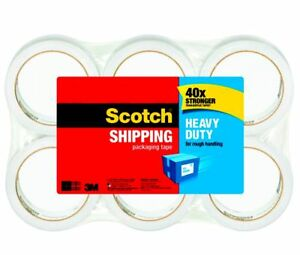 Scotch Shipping Packing Tape 40 X Stronger Than Acrylic Tape 360 Total Yards