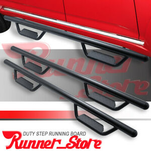 For 07 18 Chevy Silverado sierra 1500 Double Cab 3 Running Boards Hoop Nerf Bar