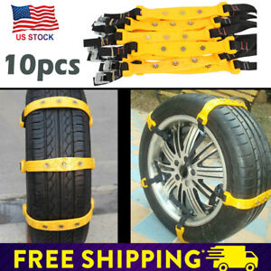 Universal Safety Anti Skid Tire Snow Mud Chains For Car Suv Traction Emergency L