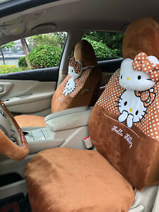 2020 New Cute 18 Pcs Hello Kitty Universal Polka Dot Car Seat Covers