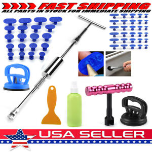 Car Body Pdr Tool Dent Puller Slide Hammer Paintless Hail Repair Kit Pulling Tab