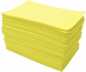 Eurow Microfiber Cleaning Cloths 12 X 16in 300gsm 36 Pack Yellow