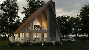 Berkshire A frame 24x44 Customizable Shell Kit Home Delivered Ready To Build