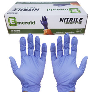 100 Emerald Nitrile Rubber Gloves Non latex Large Free Shipping Today From Nj