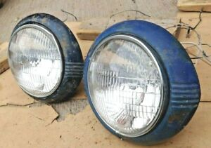 1942 1948 Chevy Headlight Assemblies Original Gm Pair Sealed Beam Car