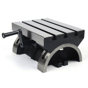 Swivel Angle Plate Tilting Table 12 Adjustable Heavy Duty For Milling Machines