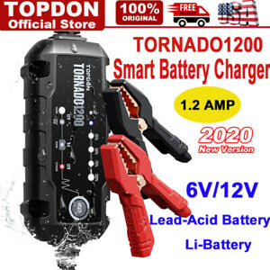 Smart Car Battery Charger Maintainer For 6v 12v Agm Gel Wet Battery Vehicles