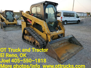 2016 Caterpillar 249d Cab A c Rubber Track Skid Steer Loader Joystick Cat