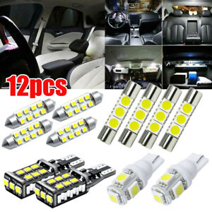 For Chevy Silverado 1500 2500 2007 13 White Led Interior Lights Package License